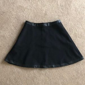 Banana Republic Skirt with leather edging
